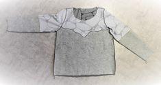 muntaipale - kankaita ja ompeluniloa: Collegepaita twistillä (2/2) Long Sleeve, Sleeves, Mens Tops, T Shirt, Fashion, Supreme T Shirt, Moda, Tee Shirt, Long Dress Patterns