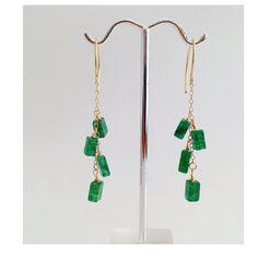 Green Emerald Earrings May Birthstone