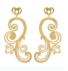 Bianca Earring in Soft Brass by Sam DuPont