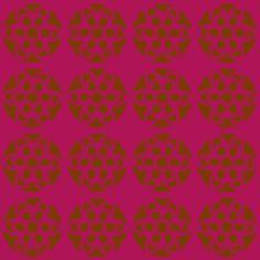 retro flowers purple brown fabric by tailorfairy on Spoonflower - custom fabric