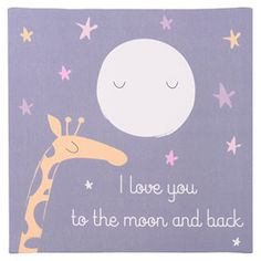 Canva 45 x 45 cm LOVE YOU TO THE MOON Merlin, Love You, Moon, Canvas, Poster, Art, Canvases, The Moon, Tela