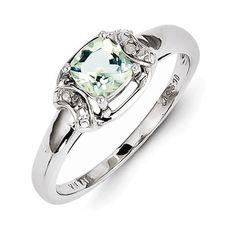 Sterling Silver Rhodium Diam.  #JewelryForWomen