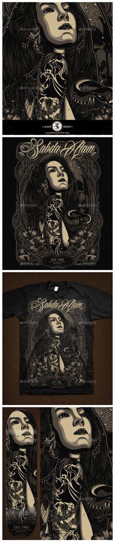 Sabda Alam (Vector EPS, Photoshop PSD, Transparent PNG, AI Illustrator, CS, babe, bone, dark, DEATHMETAL, eye, girl, grind, grindcore, grunge, hardcore, horror, merchandise, metal, poster, rock, rockstar, scarry, skull, snake, star, tattoo, wave)