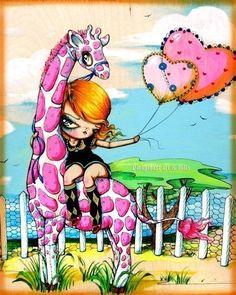 Shop        pinkytoast      PINKYTOAST original big eyed art + sweet and sou