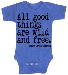 Baby Boy Body  alle guten Dinge sind wild und frei von happyfamily, $16.00