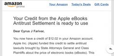 Apple sends out another installment of its eBook collusion settlement.
