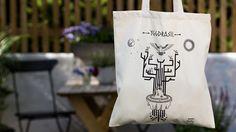 Norse Mythology, Squirrel, Screen Printing, Organic Cotton, Reusable Tote Bags, Canvas, Illustration, Fabric, Screen Printing Press