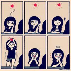 Whenever I see my secret crush