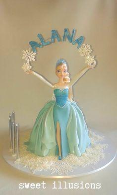 Queen Elsa cake, with open skirt