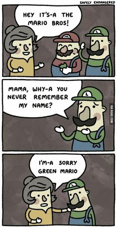 #JustGreenMarioThings