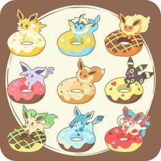 Eeveelution Doughnuts