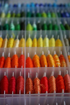 embroidery floss storage - beautiful AND practical