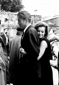 Peter O'Toole and Romy Schneider