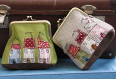 """I have """"a thing"""" for quirky houses so I think these are great. Purses - Dear Emma Handmade Designs by kristy"""