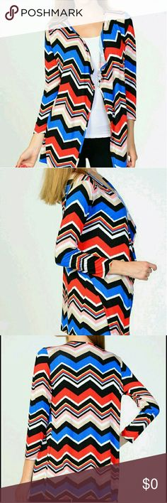 NWT Chevron Open Cardigan NWT Chevron Open Cardigan 95% Rayon 5% Span Bellino Clothing Sweaters Cardigans