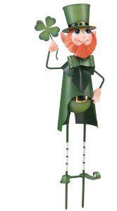 Leprechaun Garden Stake - Decorating a Garden for St. Patrick's Day