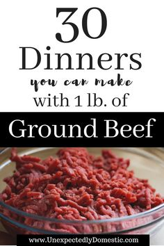 Wondering what to do with that pound of ground beef? Look no further than these 30 simple ground beef recipes. Simplify meal planning and stretch your grocery budget with these easy and quick ground beef recipes! meals with ground beef Healthy Ground Beef, Ground Beef Recipes For Dinner, Dinner With Ground Beef, Easy Dinner Recipes, Recipies With Ground Beef, Hamburger Meat Recipes Ground, Ground Beef Dishes, Easy Ground Beef Meals, Casseroles With Ground Beef