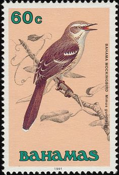 Bahama Mockingbird stamps - mainly images - gallery format