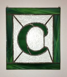 Letter C Initial CUSTOM Stained Glass by StainedGlassAndMore