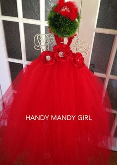 The Heidi dressLady in red gorgeous tutu dress by HandyMandyGirl