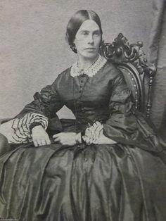 CDV great undersleeves, bracelets, Lovely Lady Huge Hoop Dress Civil War Era Chair Antique CDV Photo Hartford Ct | eBay