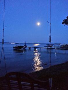 Seneca Lake Blue Moon, August 2013