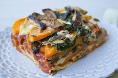 <p>Why use noodles when you can use thin roasted slices of butternut squash in your lasagna instead?</p>