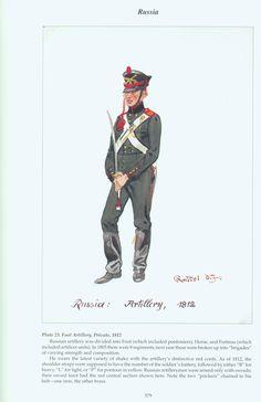 Russia: Plate 23. Foot Artillery, Private, 1812