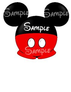 Mickey Pants Digital Printable Mouse Head by SwirlyColorPixels, $3.00