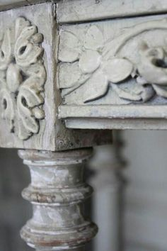 I n s p i r e d Love the carving here. Such charm that has been lost with the industrial movement. Wassily Kandinsky, French Cottage, French Country, French Farmhouse, French Grey, Fifty Shades Of Grey, Architectural Salvage, Architectural Elements, Grey Stone