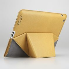 Transformable Case for iPad 3 with Microfiber Yellow Cover Stand GGMM