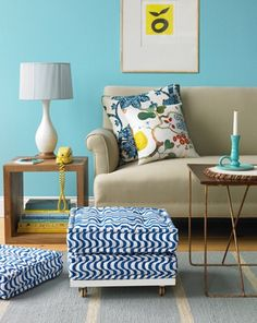 Very cool website, full of DIY for the home! I Love this DIY ottoman!