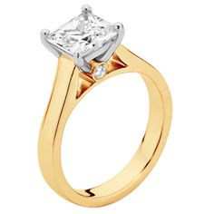 Faith Yellow Gold Engagement Rings | Princess Cut