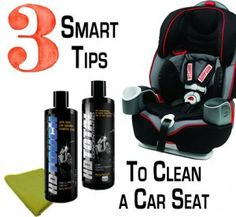 Any parent can clean their #toddler or #infant Car Seat in less than 10-15 mins! We're talking a deep clean, giving it that NEW look. Use these biodegradable and safe products on the safety seats. #CarSeat #Cleaning