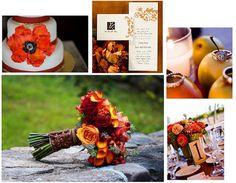Fall Wedding Inspiration- Burnt Orange & Browns | LFF Designs | www.facebook.com/LFFdesigns