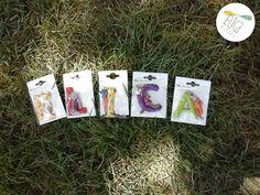Lettere in resina per decorare la cameretta dei bambini (Moulin Roty)