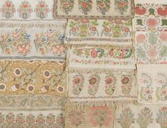 'Flowers' A Group of Ottoman embroidered Textiles