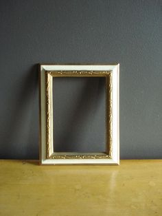Gold and Cream  Ornate Frame  Small Vintage by HappyGoVintage