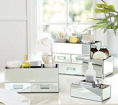 Mirrored Makeup Storage