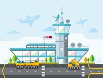 Airport Modern Flat Design Vector Illustration Royalty Free Stock Images