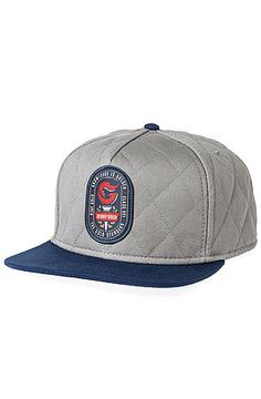 The Torch Quilted Snapback in Grey by Benny Gold