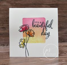 Learn how to color block stamp with a clear block and markers and you can create this stunning card using the Love What You Do stamp set.