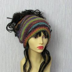 Dread hat  dread tube wrap Slouchy cap for by DamovFashion on Etsy
