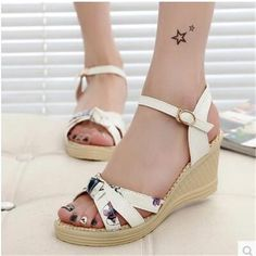Women's sandals high platform wedges platform open toe