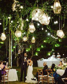50 Glam Geometric & Terrarium Wedding Ideas | Gold lanterns ...