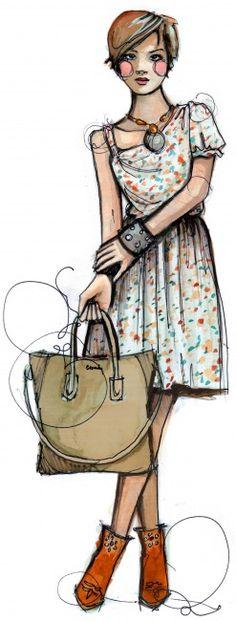 Beautiful & inspirational fashion illustration from PAPERFASHION