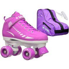 Epic Galaxy Elite Purple Speed Roller Skates Package