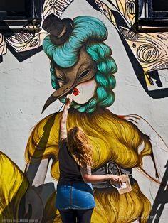 Miss Van, wall-painting.