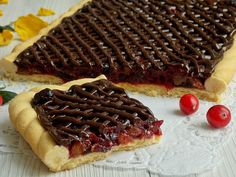 Mazurek z mincemeat Polish Recipes, Polish Food, Mince Meat, Calzone, Delicious Desserts, Waffles, Food And Drink, Easter, Breakfast