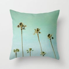 Fine Art photography Printed Accent Pillow Palm Trees Throw Pillow Cover Beach House Decor Pacific Beach Turquoise Sky Home & Office Decor Home Office Space, Home Office Decor, Throw Pillow Covers, Throw Pillows, Sky Home, Pacific Beach, Beach House Decor, Fine Art Photography, Accent Pillows